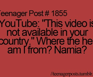 youtube, narnia, and teenager post image