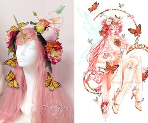 flower crown, fairy crown, and firefly path image