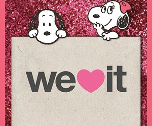 snoopy and we heart it image