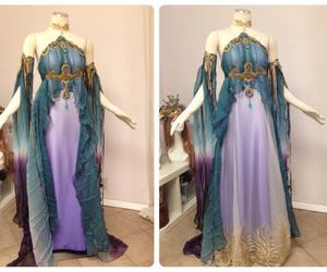 fantasy dress, firefly path, and elfen dress image