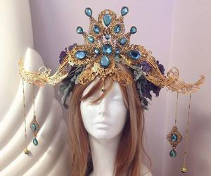 blue crown, firefly path, and fantasy crown image