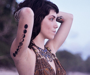 tattoo, moon, and hippie image