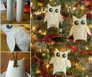 diy, christmas, and owl image