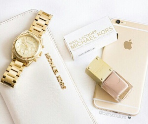 Michael Kors, fashion, and gold image