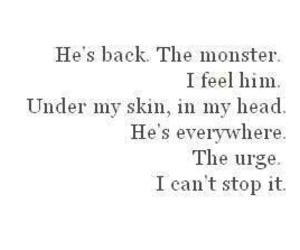 monster, depression, and hurt image