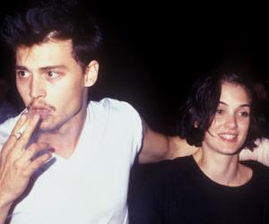 johnny depp, couple, and grunge image