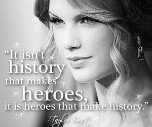 Taylor Swift, quote, and hero image