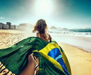 beach, brazil, and couple image