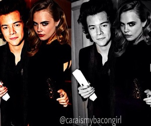 couple, harry & cara, and styles & delevingne image