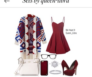 bracelet, burgundy, and cardigan image