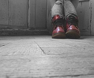depression, red, and dr.martens image