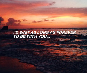 quotes, sunset, and love image