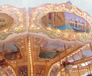 carousel, lights, and pretty image