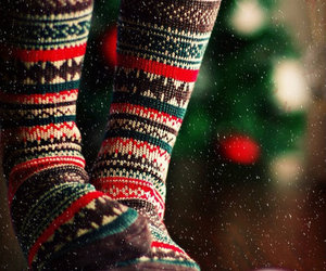 christmas, socks, and warm and cozy image