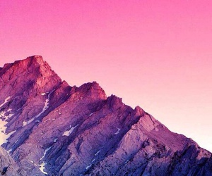 mountains, wallpaper, and pink image