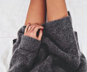 cozy, fashion, and grey image