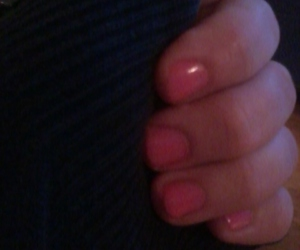 black, pink, and nails image