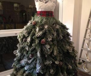 christmas, dress, and tree image