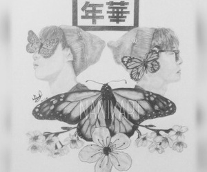 butterfly, fanart, and kpop image