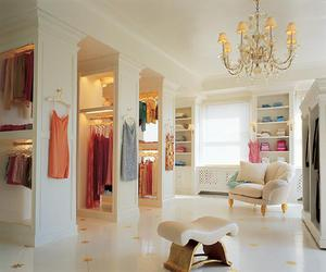 clothes, walk in closet, and fashion image