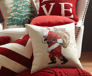 christmas, winter, and pillow image