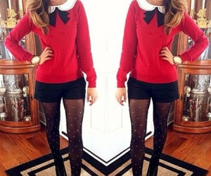 outfit, style, and christmas image