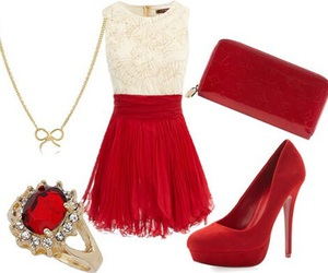 dress, christmas, and outfit image