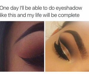 eyebrows, words, and quote image
