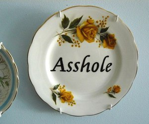 asshole, grunge, and plate image
