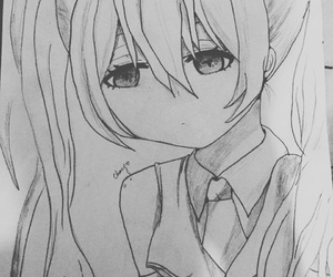 anime and drawn by me image
