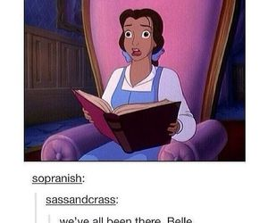 book, belle, and reading image