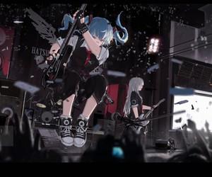 anime, band, and guitar image