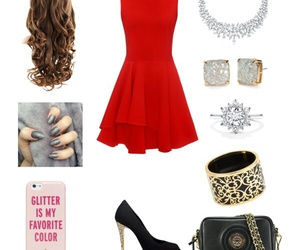 christmas, dress, and Polyvore image