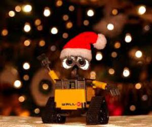 wall-e, christmas, and light image