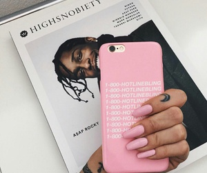 pink, nails, and Drake image