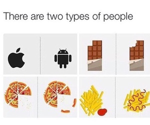 pizza, apple, and chocolate image