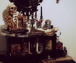 gothic, decoration, and skull image