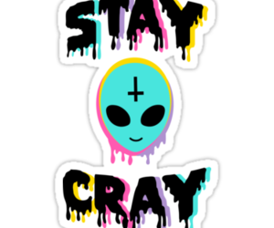 crazy, funny, and sticker image