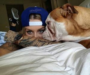 dog, tattoo, and bulldog image