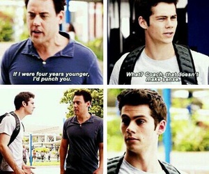 coach, stiles, and teen wolf image