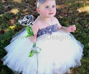 birthday dress, baby dress, and cheap flower girl dress image