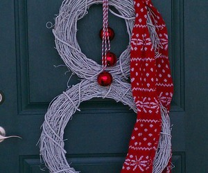 rustic, snowman, and wreath image