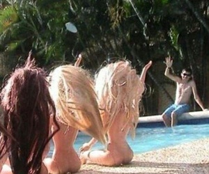 barbie, funny, and pool image