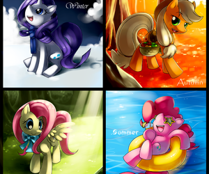 fall, spring, and pinky pie image