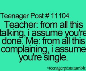 teenager post, teacher, and funny image
