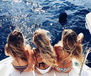 boat, friends, and water playing image