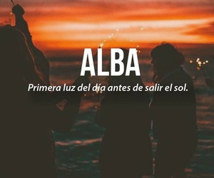 alba, español, and words image