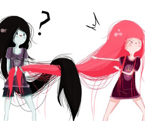 couple, adventure time, and marceline image