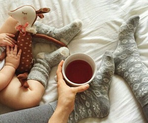 baby, tea, and cute image