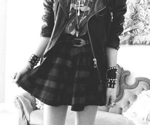 fashion, rock, and grunge image